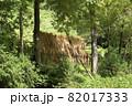 日本の原風景の稲の天日干し 82017333