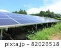 雑草が生い茂った太陽光発電所 82026518