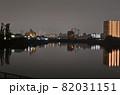 夜の隅田川 足立区千住桜木から下流方向を見る 82031151