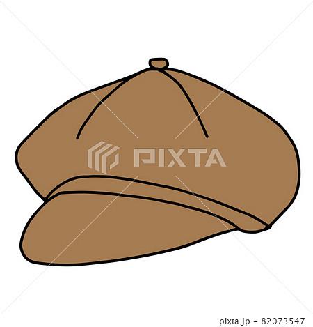 茶色いキャスケットのイラスト 82073547