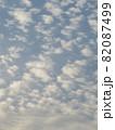 空一面の細かい雲 82087499