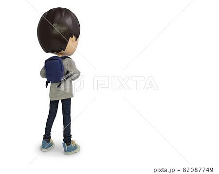 リュックの男の人形 後ろ姿 82087749