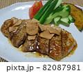 豚ロースのにんにく醤油焼きと旬の野菜 82087981