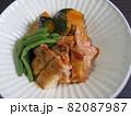 南瓜と鶏モモ肉の照り煮 82087987