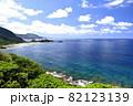奄美大島の公園から見える海岸風景 大和戸円 ヒエン浜 82123139