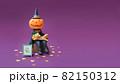 ハロウィン〜かぼちゃと猫 クレイアート 82150312