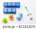 ワクチンと注射器 82162829