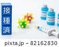 ワクチンと注射器 82162830