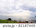 立神岩と開聞岳の広大な風景 82187449