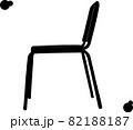 横から見たシンプルな椅子「シルエット」 82188187