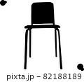 正面から見たシンプルな椅子「シルエット」 82188189