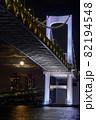東京のレインボーブリッジと満月の夜景の縦写真 82194548
