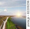 Lake Okeechobee scenic trail and park. Aerial view. 82209296