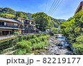 神奈川県箱根湯本 温泉街の風景 82219177