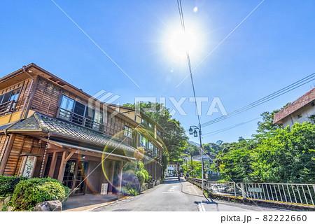 神奈川県箱根湯本 温泉街の風景 82222660