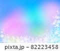 雪の結晶背景素材 82223458