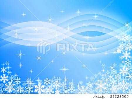 雪の結晶背景素材 82223596