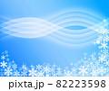 雪の結晶背景素材 82223598