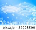 雪の結晶背景素材 82223599