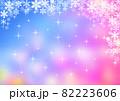 雪の結晶背景素材 82223606