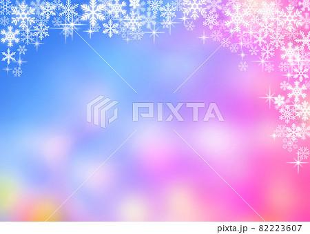 雪の結晶背景素材 82223607