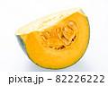 かぼちゃ(カット)。(白バック) 82226222