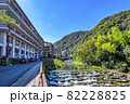 神奈川県箱根湯本 温泉街の風景 82228825