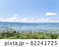 【長野県諏訪市】立石公園からの諏訪湖の風景。 82241725