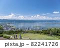 【長野県諏訪市】立石公園からの諏訪湖の風景。 82241726