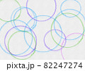 水彩のカラフルな輪っか 82247274