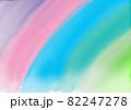 水彩画_6色の優しい虹色 82247278