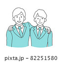 肩を組む、スーツを着た男性 82251580