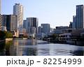 大阪福島の玉江橋からの景色(夕方) 82254999