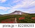 紅葉と旭岳 82289203