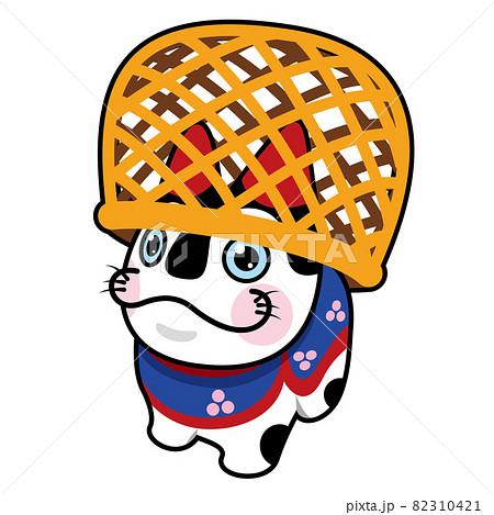 年賀素材:犬張子 82310421