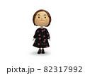 黒ワンピースの人形 正面 82317992