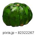 緑のカボチャのイラスト素材 82322267