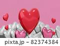 バレンタインのハートマーク 82374384