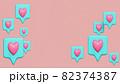 SNSなどのハートのアイコン(ポジティブな気持ちを伝える) 82374387