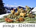 豪雪地帯・平丸集落に伝わるスゲ細工 82406968