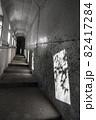 鹿児島県霧島市の千里ヶ滝に至る風景 暗いトンネルと遊歩道 82417284