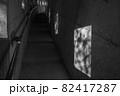鹿児島県霧島市の千里ヶ滝に至る風景 暗いトンネルと遊歩道 82417287