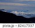 雲海。北アルプスの絶景トレイル。 82417337