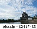 松本城と堀。 82417483