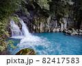 鹿児島県霧島市の千里ヶ滝に至る風景 下流の小さな滝 82417583