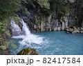 鹿児島県霧島市の千里ヶ滝に至る風景 下流の小さな滝 82417584