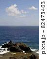 奄美大島の公園から見える海岸風景 大和大金久 82473463