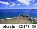 奄美大島の公園から見える海岸風景 大和大金久 82473469