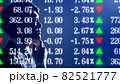 株価の一覧ボードと投資家 82521777