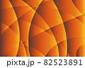 曲面が交差するオレンジのグラデーションテクスチャ 82523891